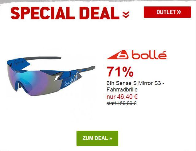 Bollé - 6th Sense S Mirror S3 Fahrradbrille um 71% reduziert