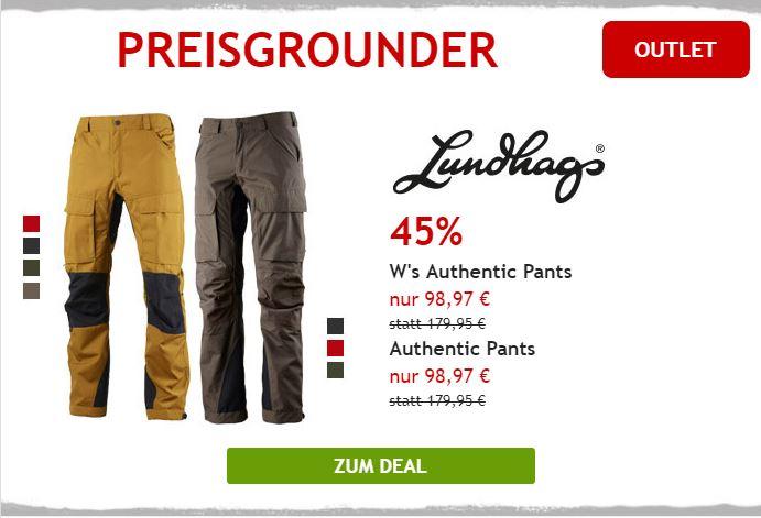 Nur heute 45% auf Trekkinghose von Lundhags