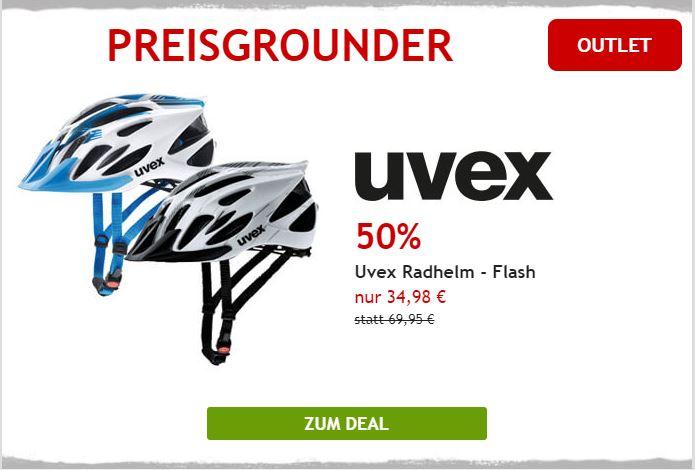 Uvex Fahrradhelm um 50% reduziert