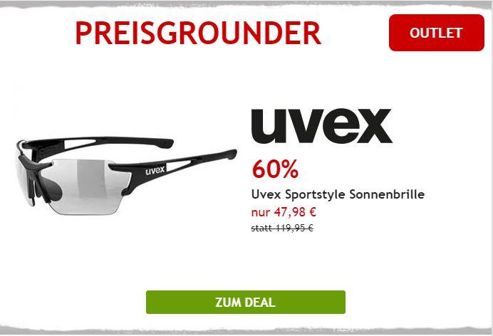 Uvex Fahrradbrille um 60% reduziert
