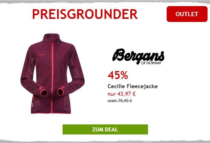 45% auf Cecilie Fleecejacke von Bergans