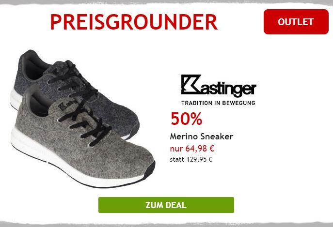 50% auf Merino Sneaker von Kastinger