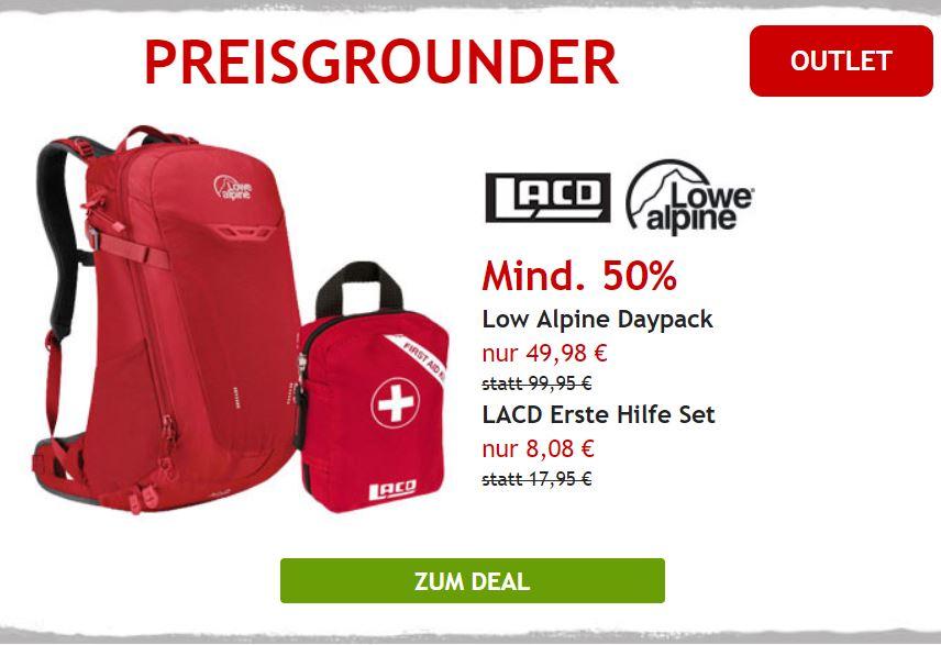 Mind. 505 auf Daypack Lowe Alpine & Erste Hilfeset LACD