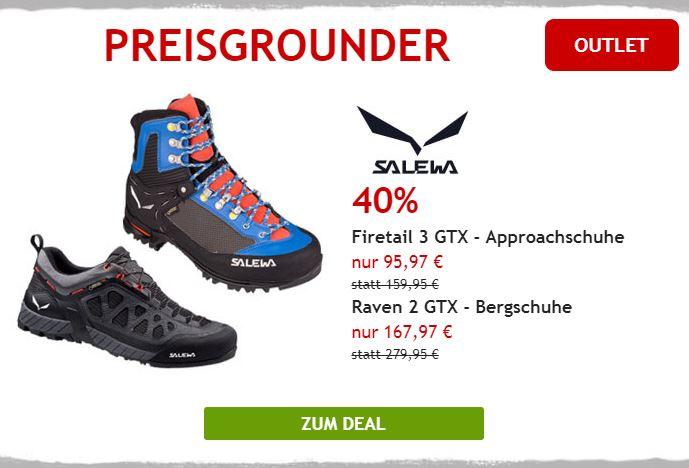 Nur heute: 40% auf Salewa Schuhe für die Berge