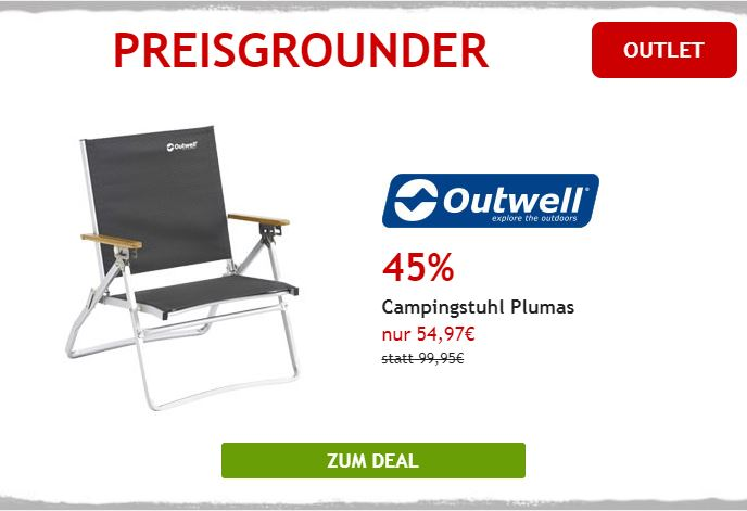 45% auf Outwell Campingstuhl
