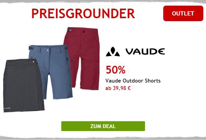 Nur heute: 50% auf Vaude Outdoor Shorts
