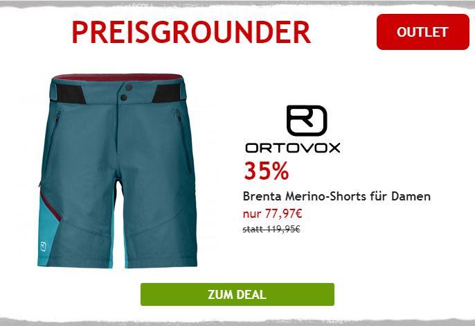 35% auf Ortovox Merino Shorts für Damen