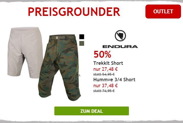 50% auf Endura Radhosen