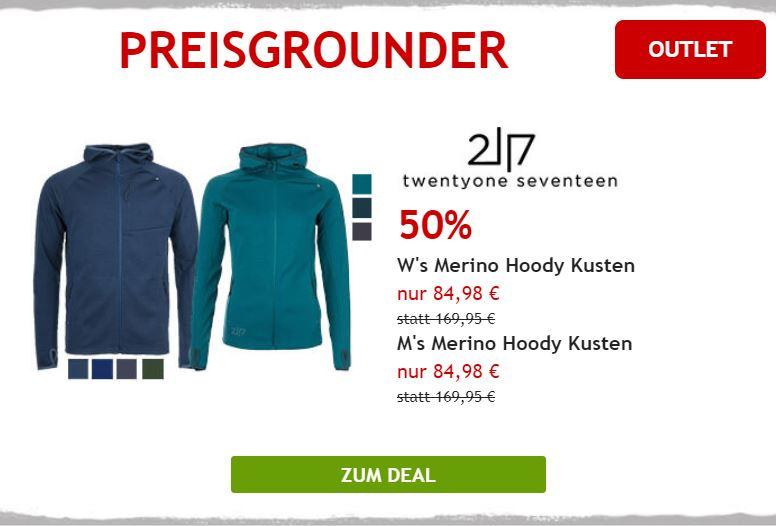 50% auf Merinojacke von 2117 of Sweden