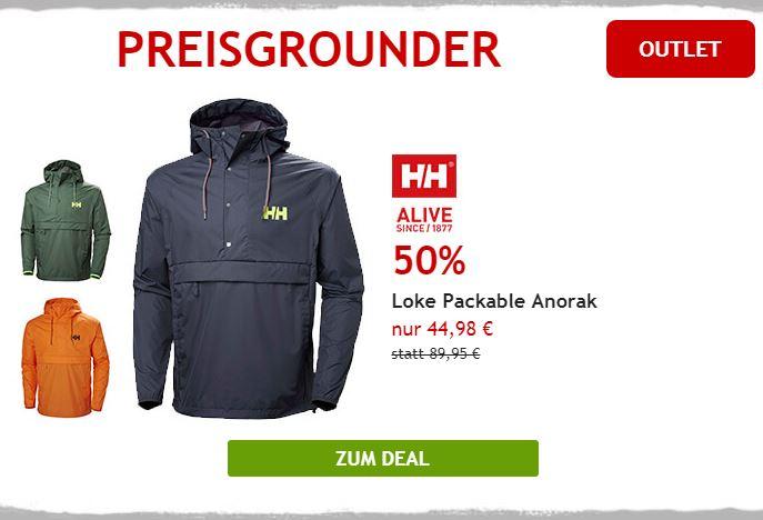 50% auf Helly Hansen Regenjacke