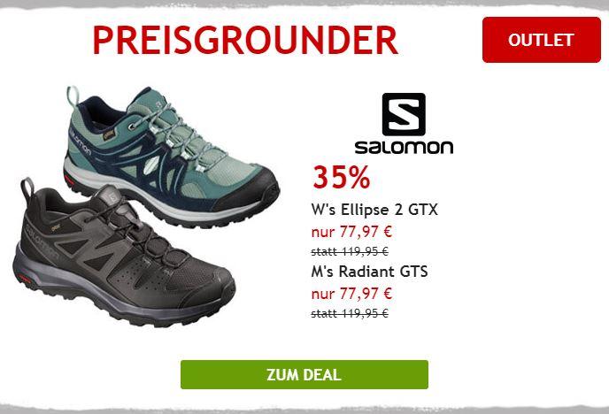 35% auf Salomon Multisportschuhe