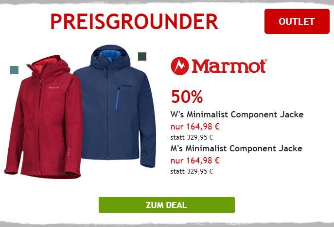 50% auf Marmot Doppeljacke