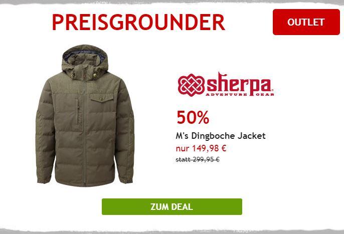 50% auf Sherpa Winterjacke