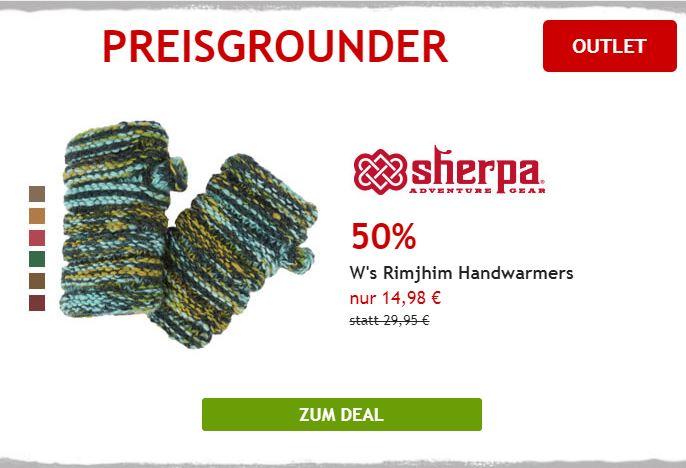 50% auf Sherpa Handwärmer