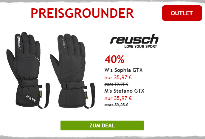40% auf Reusch Handschuhe